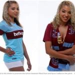 【エロすぎ注意】なでしこジャパンの選手にも来てもらいたい!胸元が空いた超エロいセクシーユニフォーム姿をウェストハムの女子サッカー選手が披露!