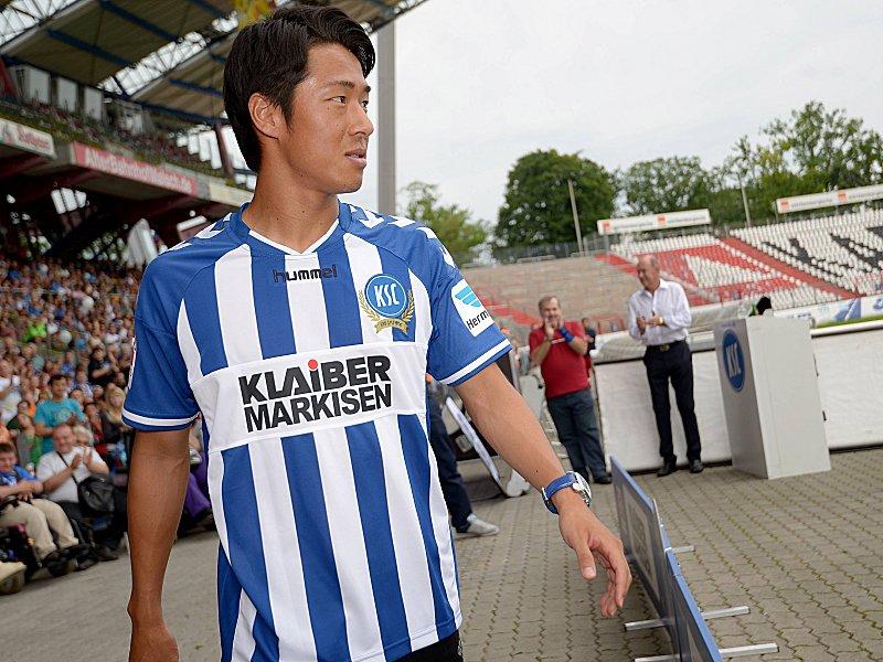 20 07 2014 xfux Fussball 2 Bundesliga Karlsruher SC Saisoneroeffnungsfeier v l Hiroki Yamada K